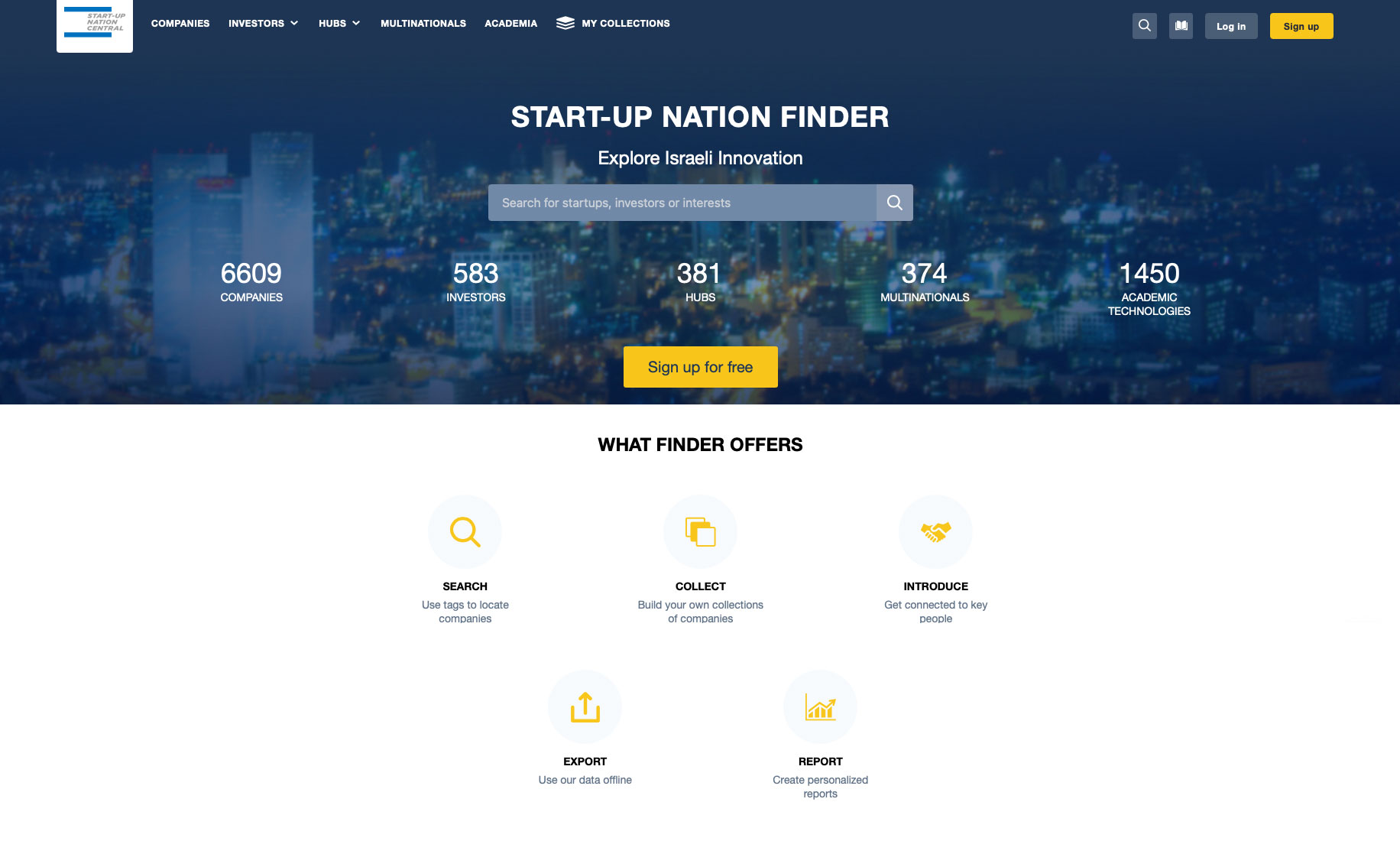 Start-up Nation Finder