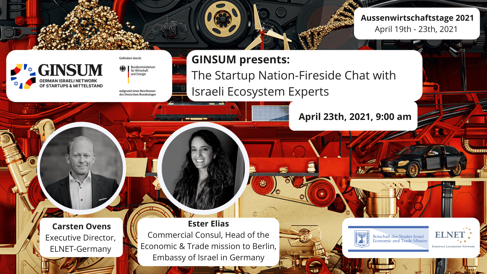 Foreign trade days 2021 - GINSUM presents: The Startup Nation–Fireside Chat with Israeli Ecosystem Expert
