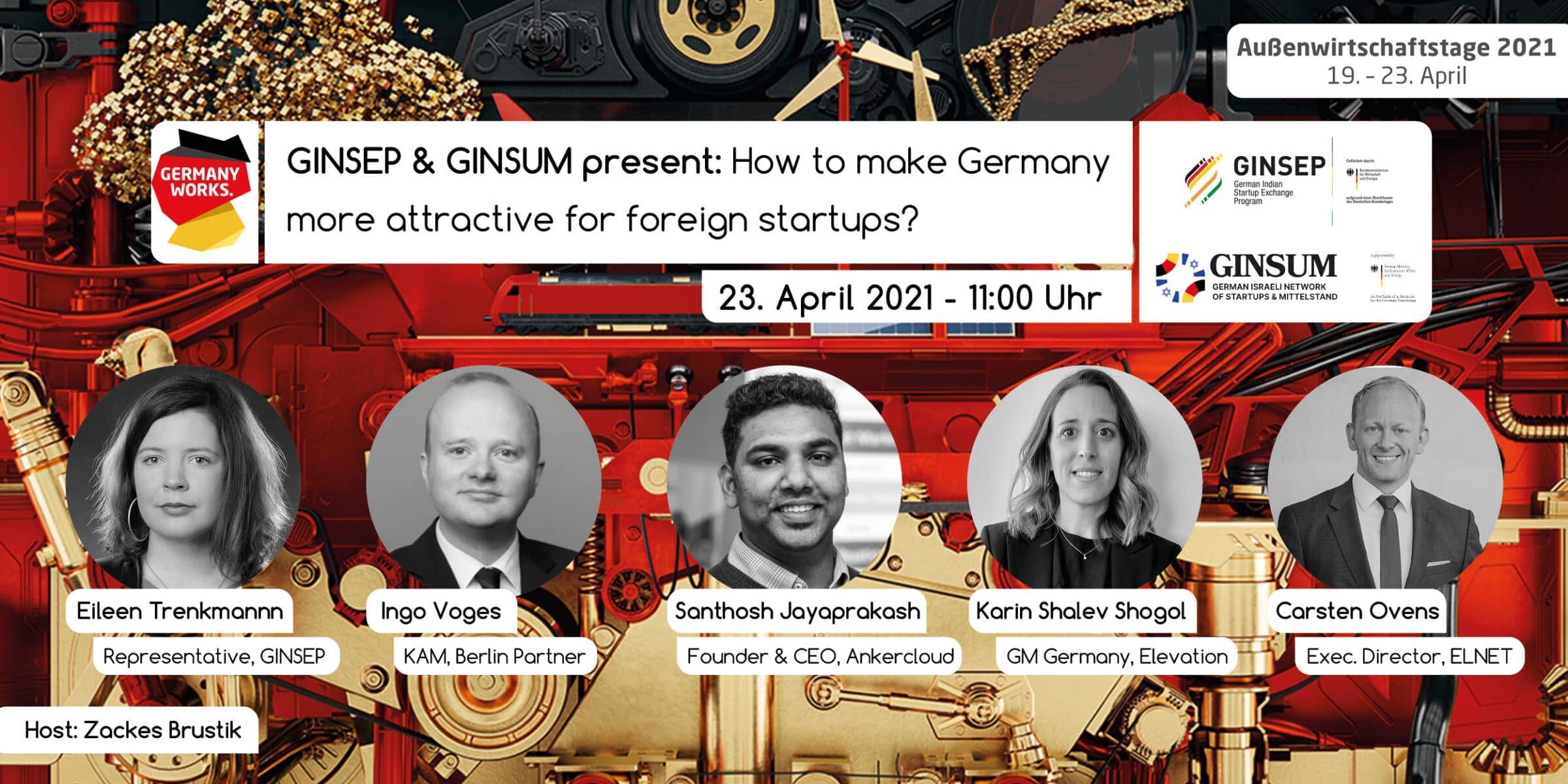 Außenwirtschaftstage 2021 - How attractive is Germany for foreign startups?