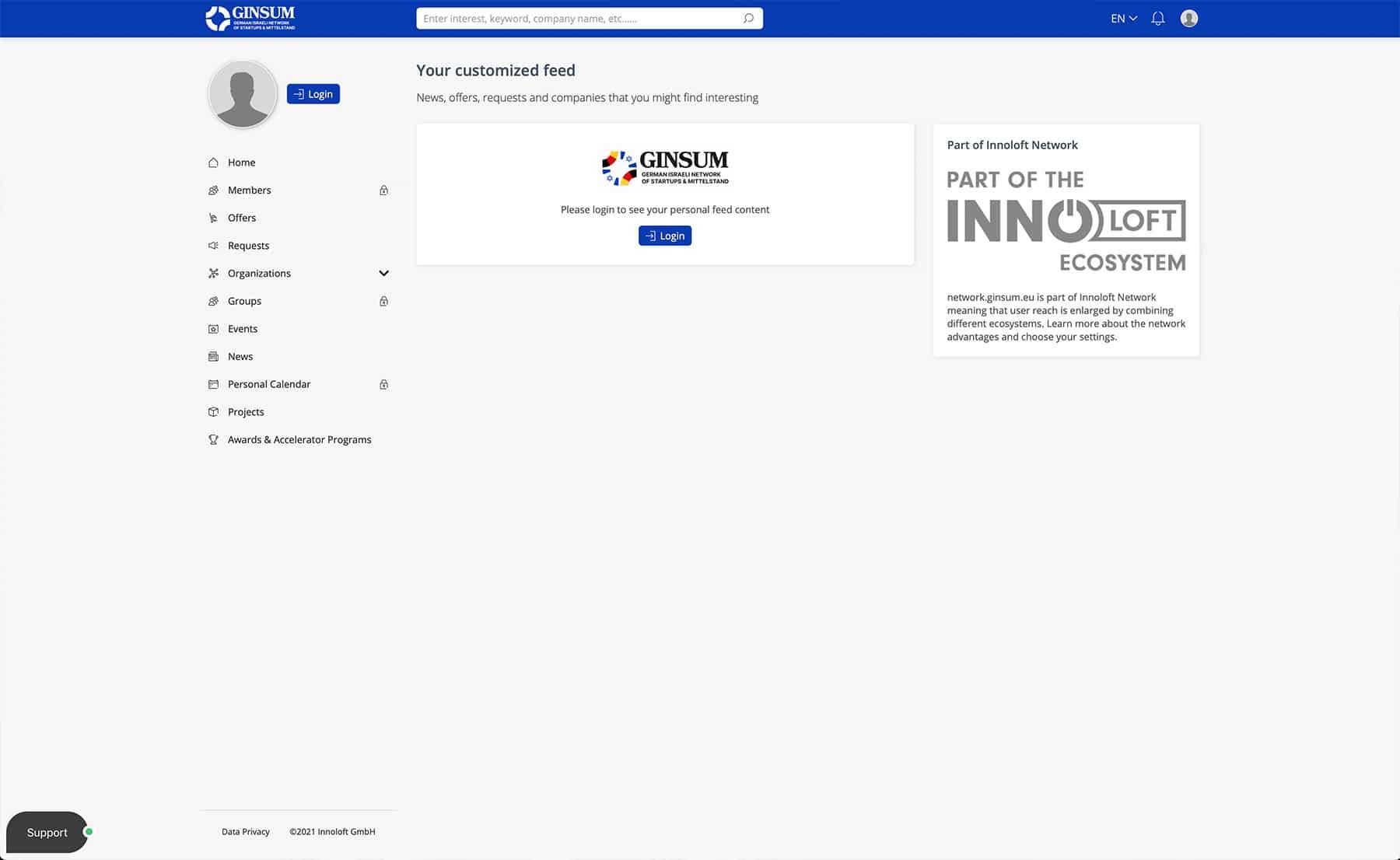 GINSUM Community Innoloft